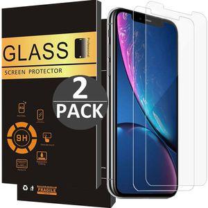 2x iPhone XR Panzerglas Panzerfolie Schutzglasfolie Displayschutzglas Echt Glas Schutz Folie Display Glasfolie 9H FixFone