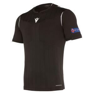 UEFA Schiedsrichtertrikot kurzarm Neon