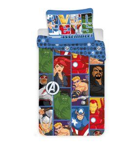 Marvel Avengers Comic - Microfaser Kinderbettwäsche 2tlg. Set 135 x 200 Thor Hulk