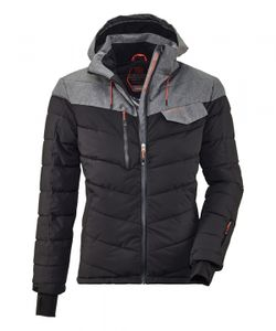 KILLTEC Combloux MN Quilted Ski JCKT 00200 schwarz / grau melange XXL
