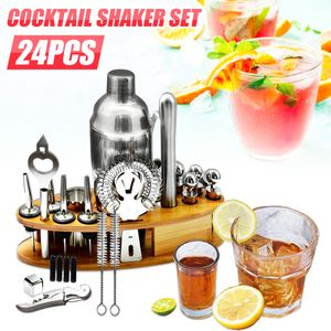 Elegant Cocktail Mixer Set 23 teilig Cobbler Shaker Cocktailshaker