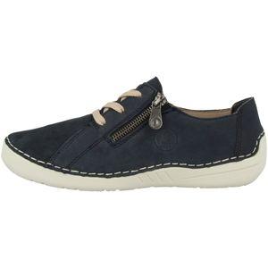 Rieker 52511 Damen Schuhe Halbschuhe Sneaker Schnürschuhe, Größe:40 EU, Farbe:Blau