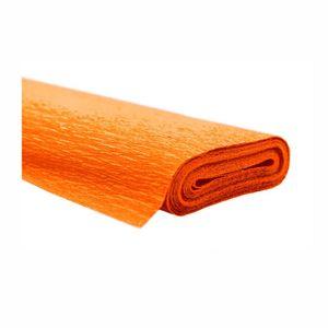 Creleo - Krepppapier orange 50x250 cm Rolle färbt nicht ab bei kontakt mit Wasser