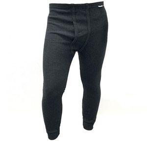 warme lange Thermo-Unterhose für Herren Gr. XL in Anthrazit aus Baumwolle Thermo Hose Unterhose  lange Herrenhose Unterwäsche Winter warmhalten
