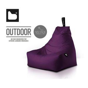 b-bag mighty-b Outdoor Sitzsack l Sitzkissen Berry-Lila
