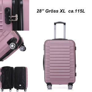 Reise Koffer Hartschalenkoffer Trolley Reisekoffer XL Pink 4 Rollen Roll-Koffer Handgepäck
