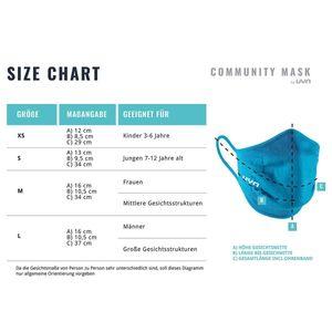 UYN Community Mask Kinder Sportmaske Mund-Nasen-Bedeckung aqua S