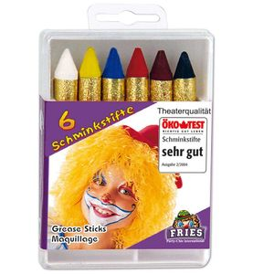 Fri -6 Schminkstifte Schminke Karneval Fasching Halloween
