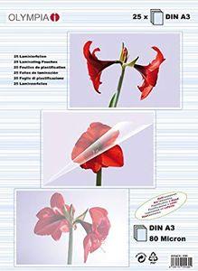 25x 1-PACK Laminierfolien A3, 303 x 426mm, 2x  75/80 mic, Hochglanz