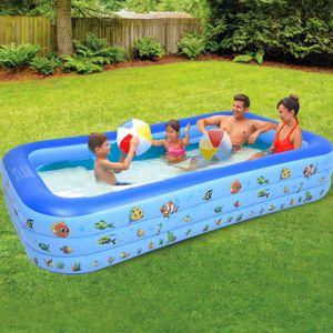 Rechteckpool, Kinder Pool, BxLxH: 170x295x55 cm, Planschbecken, Swimmingpool, Family Pool