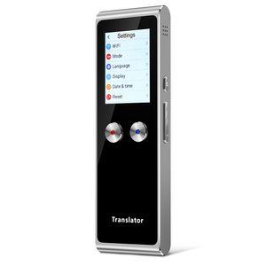 T8S Portable Voice Translator Intelligenter Hand-Sprachinterpreter WiFi Zwei-Wege-Echtzeitübersetzung 51 Sprachen Touchscreen zum Erlernen des Reisegeschäfts
