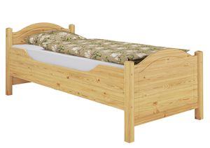 Seniorenbett extra hoch Rollrost 100x200 Massivholz Holzbett Einzelbett Gästebett 60.40-10FL