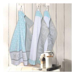 3er-Pack Geschirrtücher Home & Kitchen blau