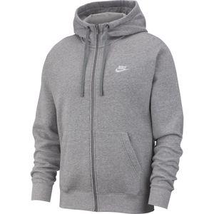 Nike M Nsw Club Hoodie Fz Bb Dk Grey Heather/Matte Silv L