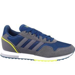 adidas Herren Freizeitschuh Sneaker Trendschuhe Laufschuhe 8K 2020 grau blau, Größe:41