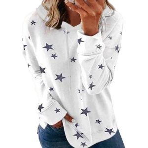 Lässiger Sweatshirt-Kapuzenpullover für Damen in Übergröße,Farbe: Weiß,Größe:S