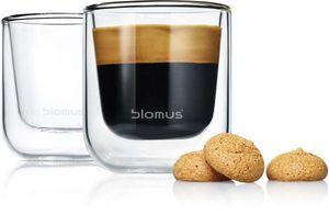 Blomus Thermo Gläser Espressogläser NERO 2-teiliges Set