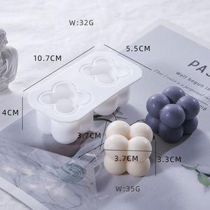 1PC Silikon Gießformen Motivbackformen Kerzengießform Kerzenform für Bubble Würfel Kerze Cube Candle Backform Type : C