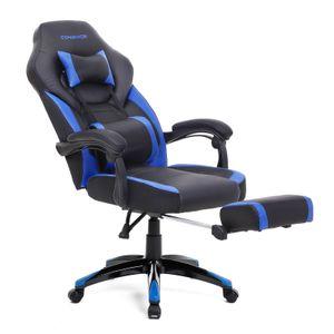 SONGMICS Bürostühle   Schreibtischstuhl   Cheffsessel   Racing Stuhl   bis zu 150 kg belastbar   ergonomisches Design   schwarz-blau OBG77BU