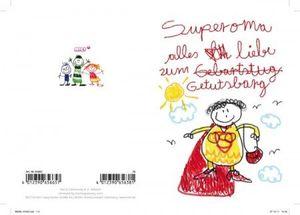 Nici - 65665 - Kinderkunst, Klappkarte mit Umschlag, Geburtstag, Superoma