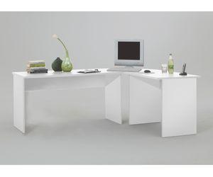 FMD Möbel TILL Schreibtisch-Winkelkombination, weiß, 351-001