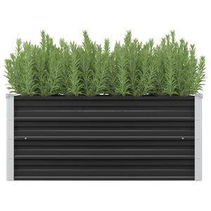 Garten-Hochbeet Anthrazit 100 x 40 x 45 cm Verzinkter Stahl