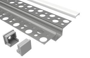 Led Alu Profil 2 m UP Set Strip / Streifen 12 mm breit | Abdeckung mattiert