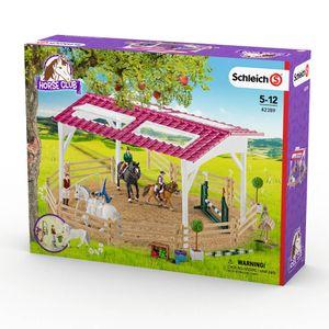 Schleich - Tierfiguren, Reitschule mit Reiterinnen und Pferden; 42389