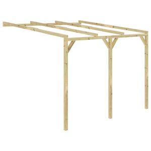 vidaXL Anlehn-Pergola 3 x 3 x 2,1 m Holz