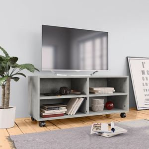 vidaXL TV-Schrank mit Rollen Betongrau 90×35×35 cm Spanplatte