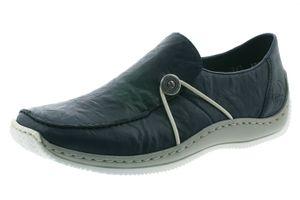 Rieker Damen Halbschuhe Leder Slipper L1781-17, Größe:40 EU, Farbe:Blau