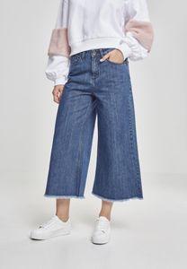 Urban Classics Damen Hose Ladies Denim Culotte Black Washed-3XL