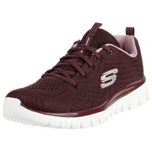 Skechers Damen Low Sneaker Rot Schuhe, Größe:39