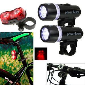 Superhelle 5 LED Fahrrad Zyklus vorne + hinten Rückleuchten Wasserdicht Frontleuchten