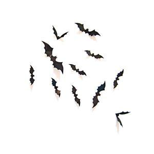 Oblique Unique 3D Fledermäuse 12er Set Halloween Wandtattoo Wandsticker Wanddeko