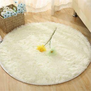 Hochflorteppiche Hochflor Teppich 60x60 cm Langflor Shaggy Teppiche für Wohnzimmer flauschig Bettvorleger Schlafzimmer Outdoor