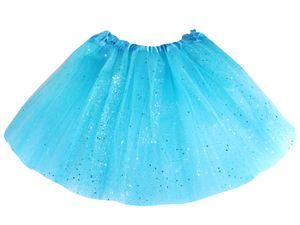 Kinder Glitzer Tüllröcke mit elastischem Bund, Farbe wählen:blau