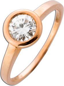 Solitär Ring 0,65ct TW / VSI Diamant Roségold 585 Verlobungsring Brillant  mit Görg Zertifikat 1