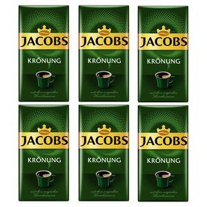 JACOBS Filterkaffee Krönung 6x500g Pulver-Kaffee gemahlen Röstkaffee 1,5kg