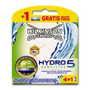 Wilkinson Sword Hydro 5 Sensitive Klingenpackung 4er + 1 Klinge Gratis, 5 Stück