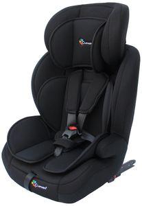 CLAMARO Autokindersitz mit ISOFIX von 9 bis 36 kg Gruppe 1+2+3 Sitze, Autositz, Kindersitz, Autositz mit Isofix:Farbe Schwarz