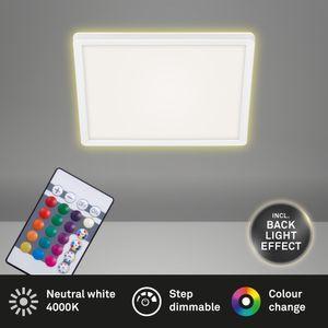LED Panel SLIM RGB weiß 15W dimmbar Fernbedienung Ø29,3 cm Briloner Leuchten