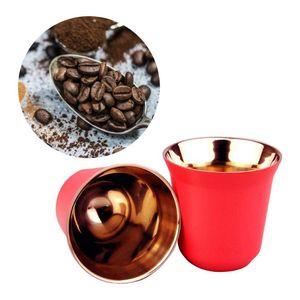 80ml Doppel Wand Edelstahl Espresso Isolierung Kaffee Tasse Kapsel Becher Espresso tasse, pulver tasse, kaffee kapsel tasse