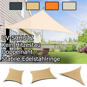 Sonnensegel 3 x 3 x 3m Dreieck Creme Sonnenschutz Sonnendach Windschutz UV Schutz Hitzeschutz Beschattung Atmungsaktiv Sichtschutz Balkon Terrasse Garten