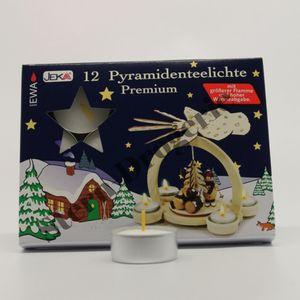 EWA 12-3813 Pyramiden-Teelichter Premium (12er Set)