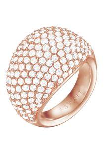 Esprit Damen Ring Edelstahl Rosé Medea ESRG02034C1, Ringgröße:54 (17.2 mm Ø)