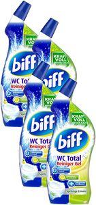 Biff WC Total Reiniger Gel Spritzige Limone WC-Reiniger 4x750 ml Tolette