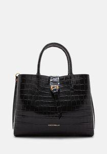 COCCINELLE Alba Croco Shiny Soft H57-180101 noir
