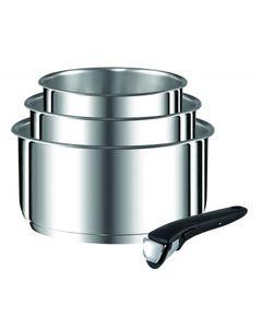 TEFAL Ingenio Preference L94195 - Edelstahl - Edelstahl - Keine Beschichtung - Schwarz - Abnehmbar - Keramik - Gas - Halogen - Induktion