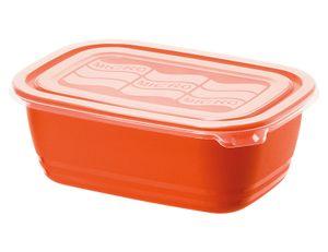 Rotho Mikrowellen-Dose 1,0L ECO, rot/transparent; 906717